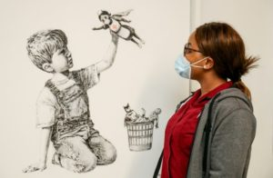 Banksy's Game Changer Painting devoted to health workers