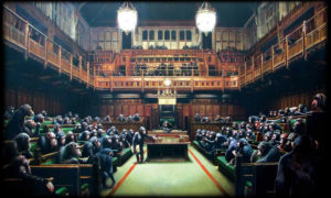 Banksy's Devolved Parliament Painting